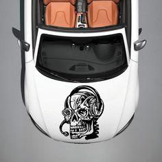 CAR HOOD VINYL STICKER DECALS GRAPHICS DESIGN ART SKULL DJ ROBOT TATTOO SV4857