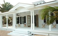 Hibiscus Hill is comprised of three houses that can be rented on Harbour Island in the Bahamas. They are all originally built or restored by India Hicks, . British Colonial Style, French Colonial, Puerto Rico, Caribbean Homes, Plantation Homes, New Homes, House Styles, House Exteriors, House Facades