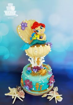 Gravity Defying Little Mermaid Cake by Rose Dream Cakes