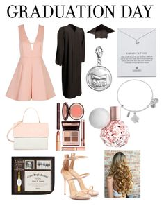 """""""contest entry: graduation day"""" by heartomagcon ❤ liked on Polyvore featuring Dogeared, Personal Charm, Alex and Ani, Eddie, Giuseppe Zanotti, Graduation, contest, contestentry and graduationdaydress"""