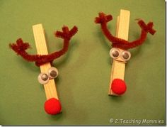 Clothes Pin, Red Pom-Pom's, Crazy Eyes & Pipe cleaners!