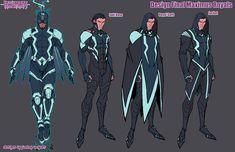 Marvel And Dc Characters, Superhero Characters, Anime Characters, Super Hero Outfits, Super Hero Costumes, Comic Character, Character Concept, Comic Books Art, Comic Art