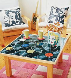 How to make a table top out of records - Better Homes and Gardens - Yahoo!7