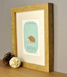 Hedgehog Art Print - so much cooler than your standard bunnies and puppies.