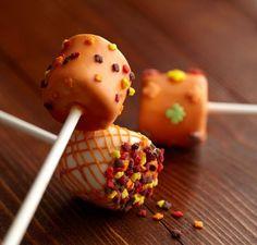 Fall Thanksgiving Harvest Seasonal chocolate Dipped Marshmallows on a stick 1 dozen by TheMadPlatterKitchen on Etsy