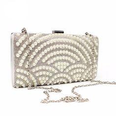 Pearl Design Clutch Bag