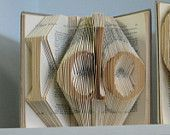 Folded Book Art Sculpture for Wedding - Bridal Shower Gift Decor - Engagement present  - READY TO SHIP