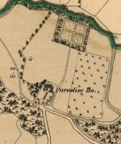 Paradise House on the 1842 OS map