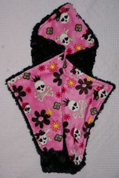 PRINCESS GOTH SKULLS LOVIE BY WILLOW BLU COUTURE SECURITY BABY BLANKETS