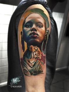 Tattoos I've done and tattoos I like Stomach Tattoos, Body Art Tattoos, Girl Tattoos, Sleeve Tattoos, Color Tattoos, Tattoo Sleeves, Tattoo Art, African Tribal Tattoos, Africa Tattoos