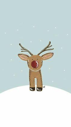 Rudolph the reindeer #RedNose #Rudolph #Wallpaper