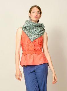 Allium by Grace Anna Farrow featuring Meadow in Fennel and Cornflower, 2 skeins.