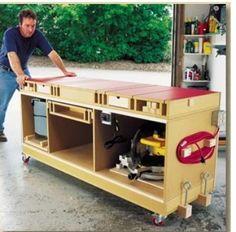 uma bancada que comporta todos as maquinas para uma pequen a marcenaria: http://www.popularwoodworking.com/projects/aw-extra-51514-u...
