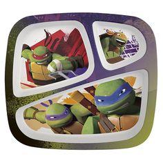 Teenage Mutant Ninja Turtles Divided Kids Dinner Plate - front view