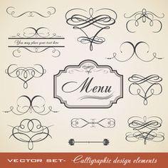 Calligraphic Element Set 3