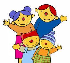 Afbeelding van de familie van Puk, voor het Puk thema: Ik en mijn familie.