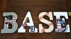 Hey, I found this really awesome Etsy listing at https://www.etsy.com/listing/190094088/9-baseball-letters