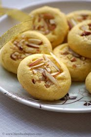 Indian Cuisine: Eggless Saffron Cookies Recipe ~ Diwali Special Eggless Cookies