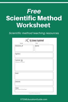 Free STEM downloads for teachers and parents. | STEM Education Guide Scientific Method Worksheet, Science Notebooks, Cool Science Experiments, Problem Solving Skills, Middle School Science, Science Classroom, Teacher Resources, Worksheets, Rube Goldberg