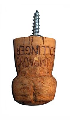 Champagne Cork Coat Hook... we've got plenty of these!