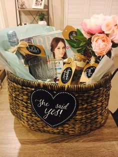 BRIDE TO BE HAMPER!!   I made this hamper for my wonderful best friend as a gift to start her new life journey!