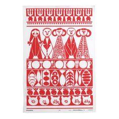 Scandinavian Modern Christmas Tea Towel by Marianne Westman Christmas Tea, Modern Christmas, Scandinavian Christmas, Retro Christmas, Christmas Design, Christmas Decor, Swedish Style, Nordic Style, Century Textiles