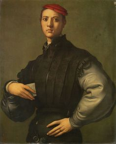 Jacopo Pontormo,Portrait of a Young Man in a Red Cap.1529.
