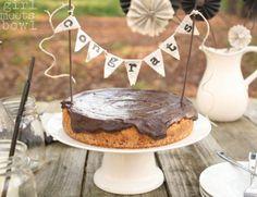 caramel cheesecake candied pecans salty pretzel crust semi-sweet chocolate ganache