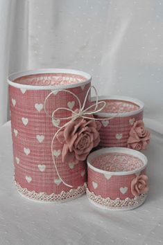 Tin Can Crafts, Felt Crafts, Diy And Crafts, Crafts For Kids, Cutlery Holder, Altered Tins, Aluminum Cans, Wine Gifts, Mini Albums