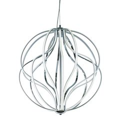 Medium LED Spiral Chandelier