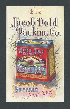 Jacob Dold Packing Co. - Buffalo - Corned Beef - Trade Card