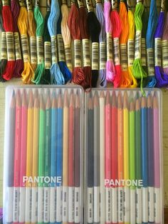 matching embroidery threads to pantone pencils