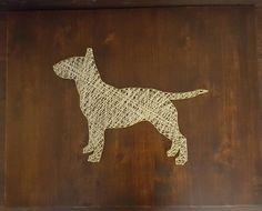 String art bull terrier