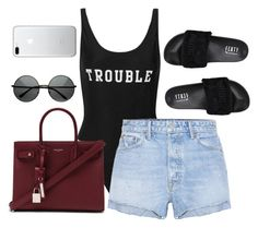 """Untitled #4105"" by magsmccray ❤ liked on Polyvore featuring ADRIANA DEGREAS, GRLFRND, Puma and Yves Saint Laurent"