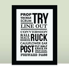 Rugby, Rugger - - Typographic, sports print, can be personalised for gifts or to the sport you love. via Etsy. Rugby Memes, Rugby Quotes, Olympic Badminton, Olympic Games Sports, Welsh Rugby Players, Rugby Girls, Sport Gymnastics, Olympic Gymnastics, Womens Rugby