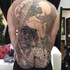 "1,770 Likes, 5 Comments - Elvin Yong (@elvintattoo) on Instagram: ""More to go on this back piece"""