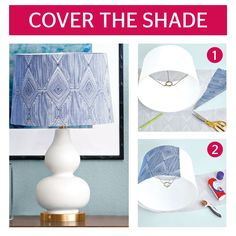 Use a lightweight cotton fabric to take an ordinary lamp and make it into something unique. See all the steps and instructions here.