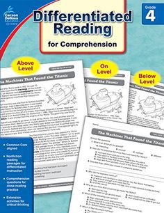Citing text evidence in 6 steps text evidence texts and teacher differentiated reading for comprehension grade 4 carson https fandeluxe Choice Image