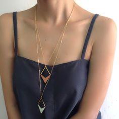 Diamond Formica Necklace, Long Necklace
