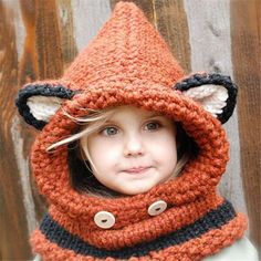 "What does the fox say? He says "" too cute too pass up "" Rusty the Fox is made with a wool blend yarn and is perfect for boys or girls and little ones to adults. This set I have ready is for a child ap"