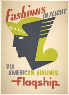 Poster: Fashion in Flight, ca. 1947. Designed by E. McKnight Kauffer.  Gift of Mrs. E. McKnight Kauffer. 1963-39-132.
