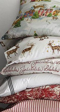 Christmas XMAS Tree Deer Snow Duvet Cover//Quilt Bedding Set Pillow Case Pair