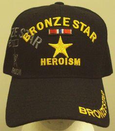 BRONZE STAR MEDAL HEROISM HEROIC RIBBON ARMED FORCE COMBAT VET VETERAN CAP HAT #PREMIUMHATS #BaseballCap