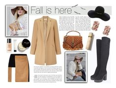 """""""fall is here//CAMEL COAT&OVER-KNEE BOOTS. LETS KICK IT!"""" by perfectlydeathly ❤ liked on Polyvore featuring Designers Guild, Yves Saint Laurent, Eugenia Kim, Miss Selfridge, Kate Spade, River Island, Chanel, Bobbi Brown Cosmetics, Burberry and Sephora Collection"""