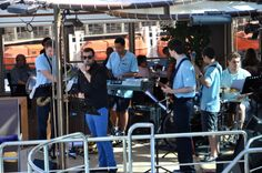 Live music on deck to greet guests