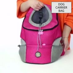OFF Pet Travel Backpack Insidehook design connects to your pet collar. This pet backpack also has a zipper and drawstring to provide additional safety for your lovable pet. Pet Travel, Travel Backpack, Pet Dogs, Dog Cat, Pet Pet, Chihuahua Dogs, Frozen Dog, Dog Items, Dog Carrier