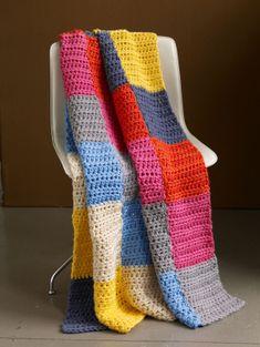 Free Crochet Pattern: Candy Shop Afghan #crochet #afghan #pattern #free