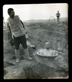 """Taking a #bath at twelve below zero in December along the Sha O River,"" Russo-Japanese War, c. 1904"