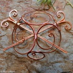 Celtic Spirals Barrette - Extra large with 2 pins -