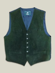 Orvis Forest Green Suede Vest